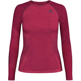 Odlo Performance Muscle SUW L/S Top Crew Neck Women diva pink/odyssey gray
